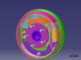 汽车鼓式制动器设计图