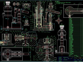 JRC单缸立式手动液压柱塞车载千斤顶(5吨) 二维图纸