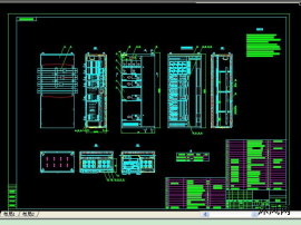 MNS2.0系列柜体结构CAD图纸