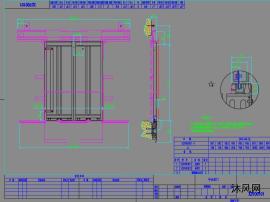 新国标中分层门门板和地坎CAD图纸