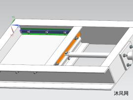 300x300手动插板阀模型
