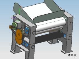 自动压面机三维模型