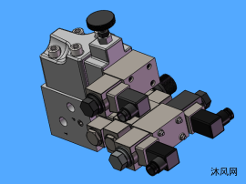 油阀阀体模型