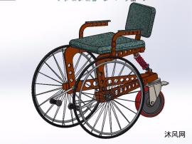 三轮轮椅模型