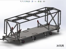 貨車的集裝箱結構設計模型