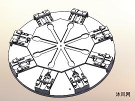 八工位自动改变载具台