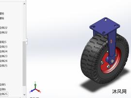 充气橡胶移动脚轮