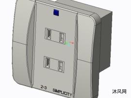 繁复式插座的外不雅不雅设计