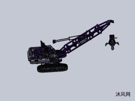 lego玩具拼图的履带式起重机设计模子