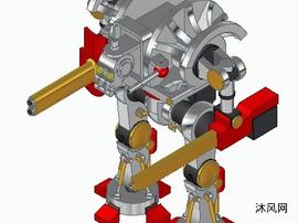 战斗型号的机械人玩具设计模子