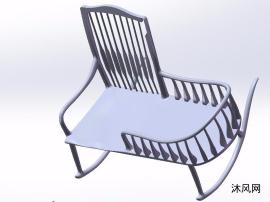 摇椅三维模子图