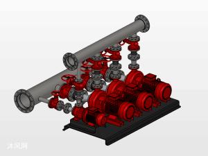 一种泵站模型