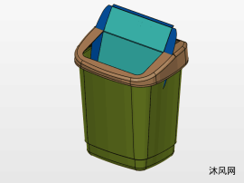 翻轉式垃圾桶