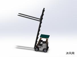 叉车装配体模型
