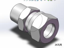 國標卡套式錐螺紋直通管接頭全圖