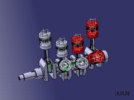 發動機曲軸及連桿有限元強度分析