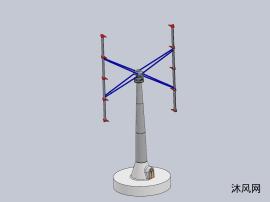 垂直軸風力發電機模型圖