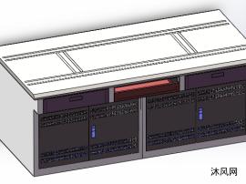 電腦桌三維