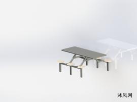 不銹鋼六人餐桌