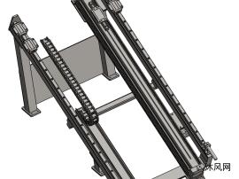氣缸運動機構三維