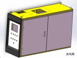 鈑金電控箱三維模型