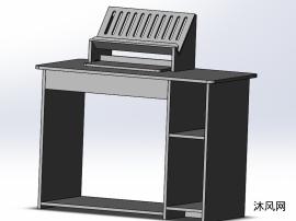 電腦辦公桌三維