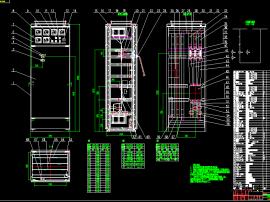 3款GGD開關柜結構裝配圖