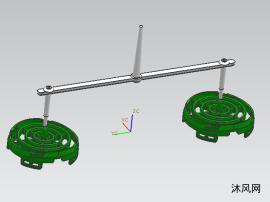 吹風機后機罩模具3D