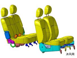 日系品牌MPV汽車座椅數模