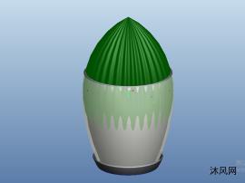 仙人球盆栽模型圖