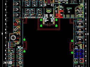 某酒店洗浴中心平面图