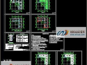 碳纖維型鋼加固施工CAD圖紙