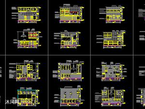 CAD厨房立面图