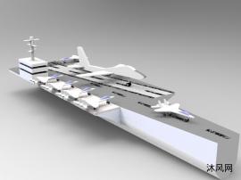 航母实体装配体建模