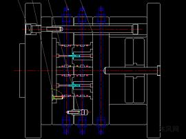 直齿轮模具结构图