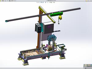 标准手动拧紧工位设计模型