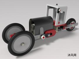 inventor三轮车设计