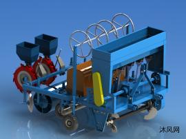 2SPLM-1.0调幅式施肥播种喷药滴灌起垄铺膜一体机设计