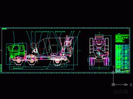6方混凝土攪拌運輸車總圖