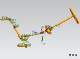 齒輪齒條式電動助力轉向系統設計及仿真分析【UG+仿真】