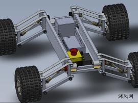 越野车车架底盘的模型