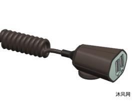 车载带线充电器
