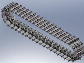 挖掘机履带链条模型