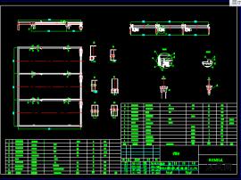两层链条立体车库传动系统总成CAD图纸