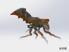 仿生机器人外星虫族模型