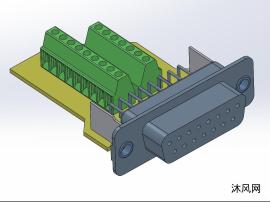 15针D-sub母插头模子