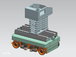移动升降台模型图