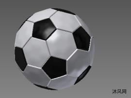 黑白色足球模型