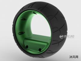 未来创新设计之无轮毂轮胎设计模子